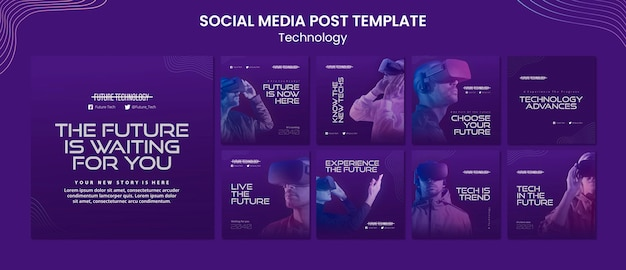 Virtual reality instagram post templates