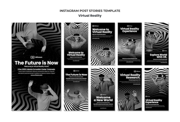Virtual reality instagram stories template