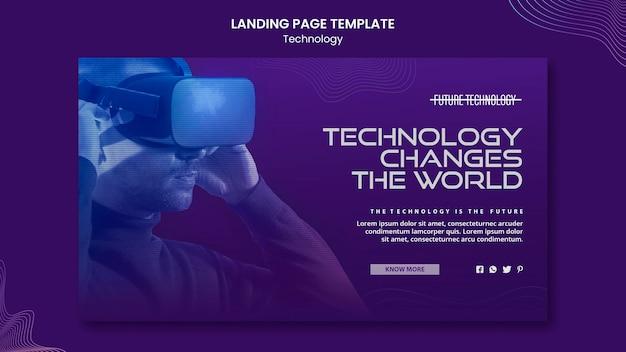 Virtual reality landing page template