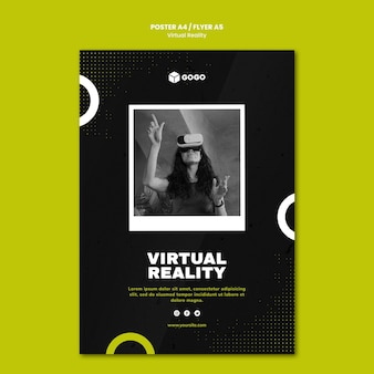 Virtual reality poster template