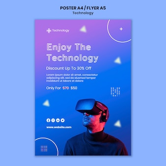 Шаблон плаката виртуальной реальности