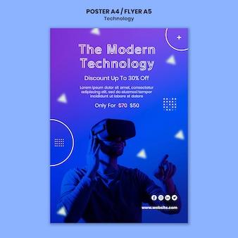 Modello di poster di realtà virtuale