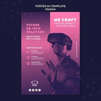 Virtual reality print template in duotone