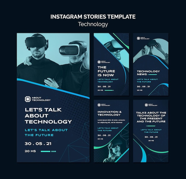 Virtual reality social media stories