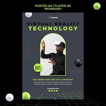 Modello di poster di tecnologia di realtà virtuale