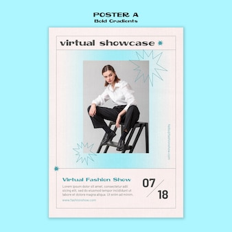 Virtual showcase poster template