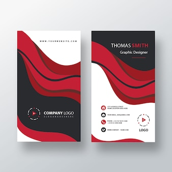 Visit card template vertical design