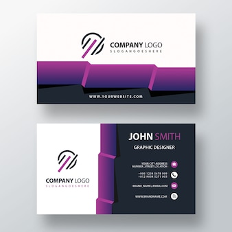 Visit card with abstract detailed
