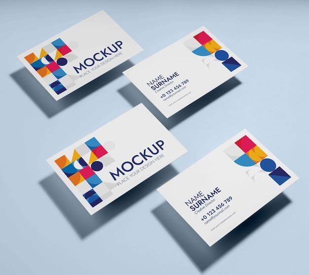 Визитная карточка дизайна макета