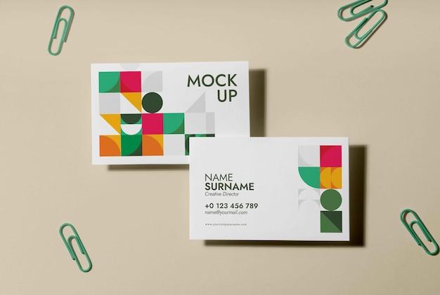 Visiting business card design mockup
