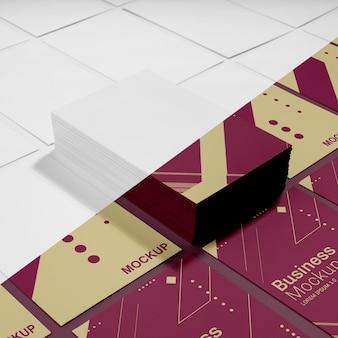 Расположение макета визитной карточки