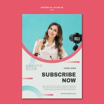 Vlog concept flyer template