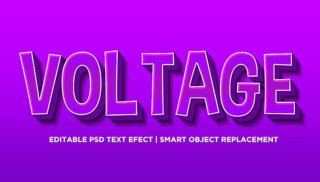 電圧-編集可能なテキスト効果スタイルpsd