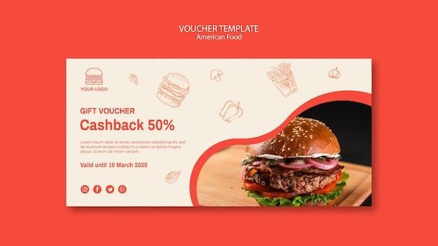 Voucher for burger restaurant
