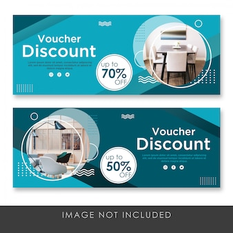 Voucher discount best furniture blue colour collection template