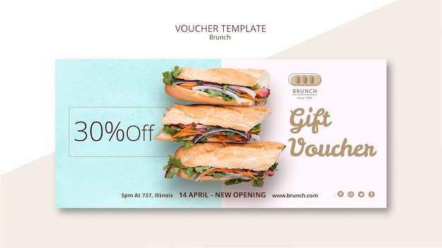 Voucher template for brunch