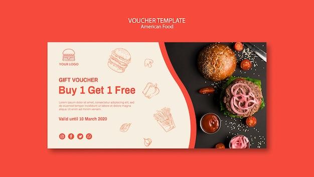 Voucher template for burger restaurant