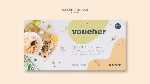 Voucher template design with 20% off