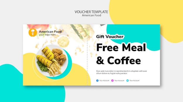 Voucher template for free meal