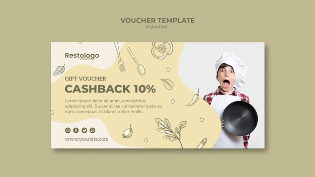 Voucher template for restaurant