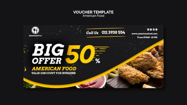 Voucher template special offer