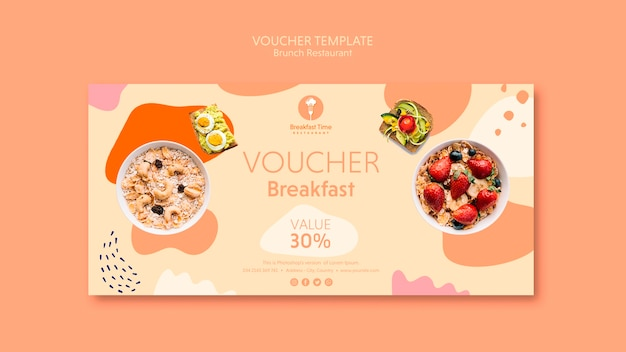Voucher template with 30% discount