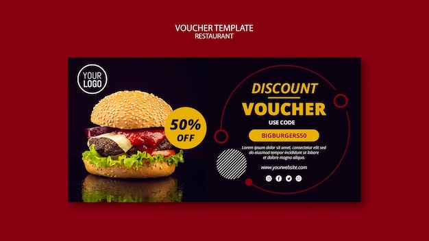 Voucher template with 50% off