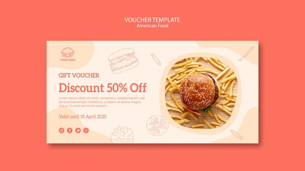 Voucher template with discount