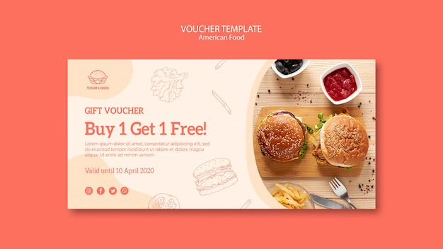 Voucher template with offer