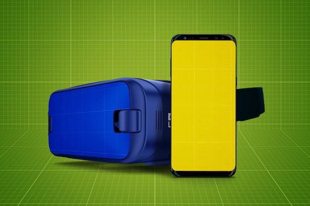 Vr glasses and mobile mockup