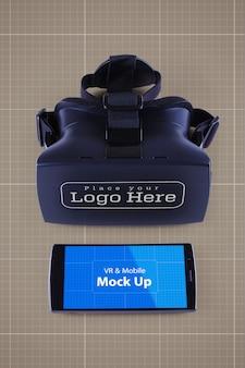 Vr and mobile mockup