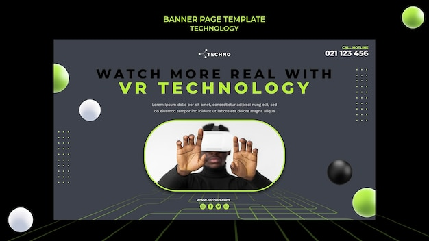 Vr technology banner template