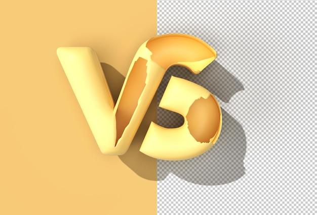 Vs company letter logo transparent psd file.