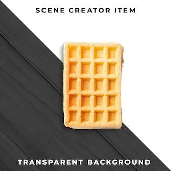 Waffle transparent psd