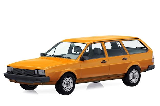 Wagon combi car 1980 mockup