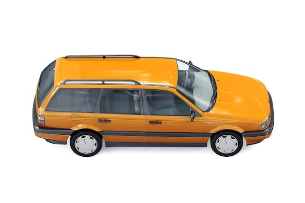 Mockup di auto combi wagon 1987