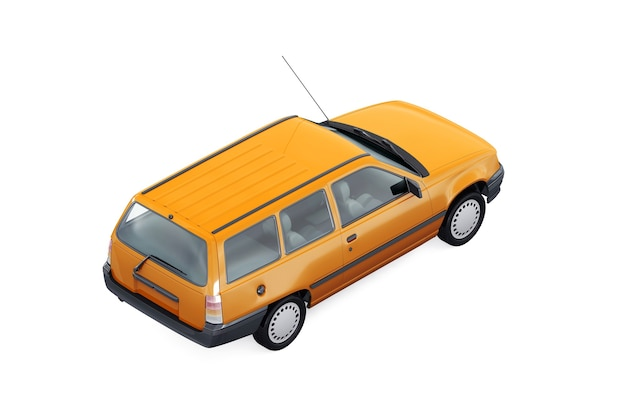 Wagon combi car 1991 mockup