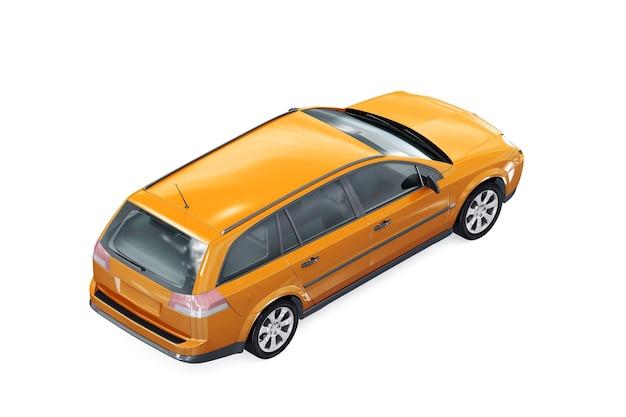 Mockup di auto wagon combi 2002