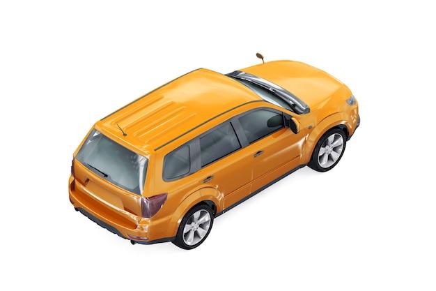 Mockup di auto combi wagon 2009