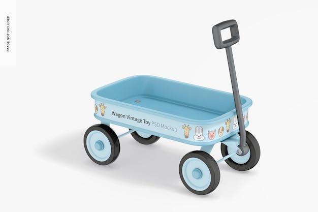Мокап старинной игрушки вагон