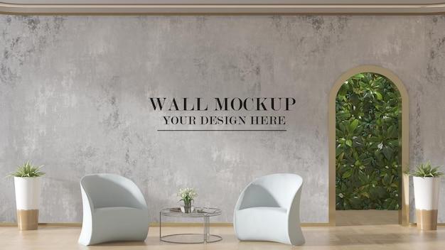 Waiting area wall mockup design