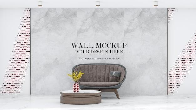 Waiting area wall mockup