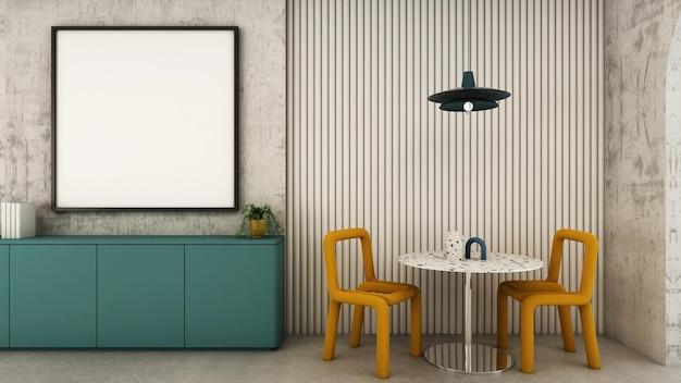 待合室エリアのデザインモダンな最小限の3dレンダリング