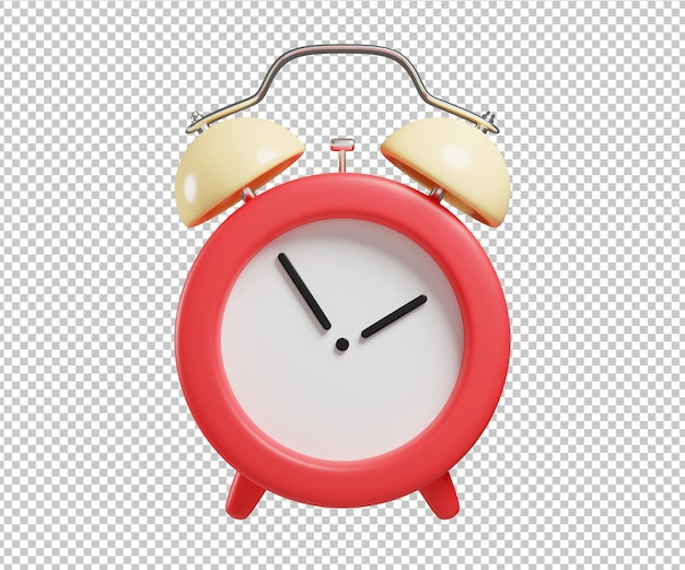 Waker clock alarm 3d illustration