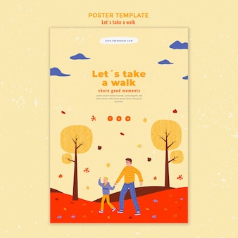 Walk in nature flyer template