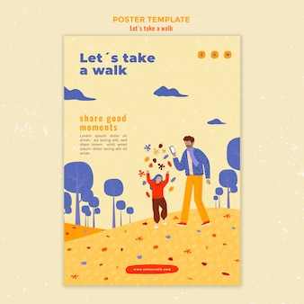 Walk in nature template poster