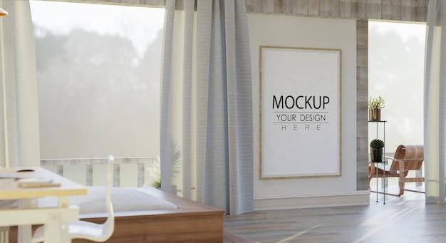 Настенный макет, холст или фоторамка в гостиной