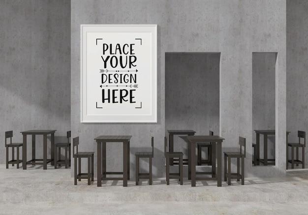Настенное искусство или рамка для картин в современном макете ресторана