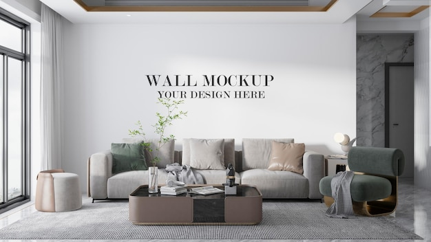 Wall background in 3d rendering room