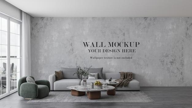Wall background in modern design interior